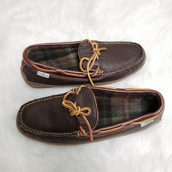 Llbean Mens Handsewn Slippers Flannel